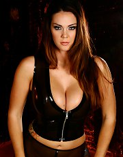 Amazon Alison Tyler shows off her hot body in curve hugging latex.